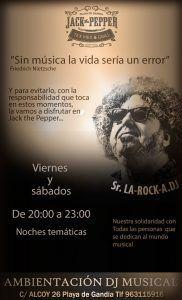 Sr. LA-ROCK-A.DJ @ Jack The Pepper | Grau i Platja | Comunidad Valenciana | España