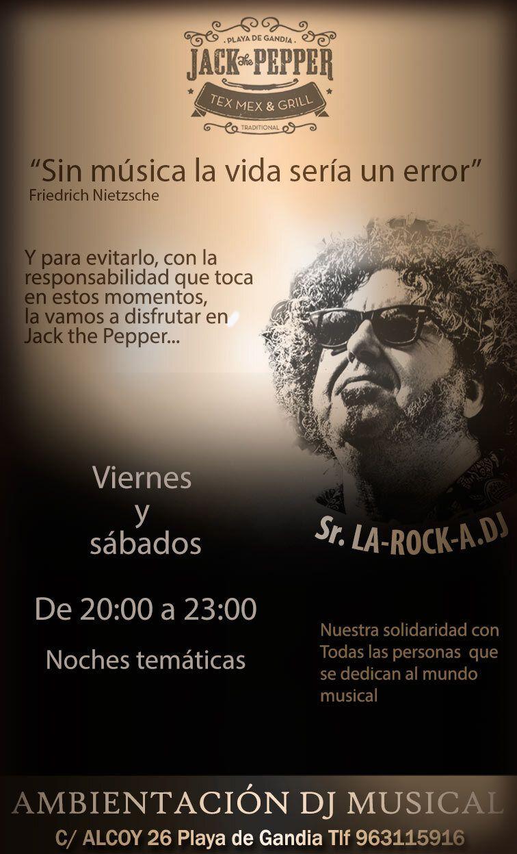 Cartel-DJ-La-Roca-viernes-y-sabados