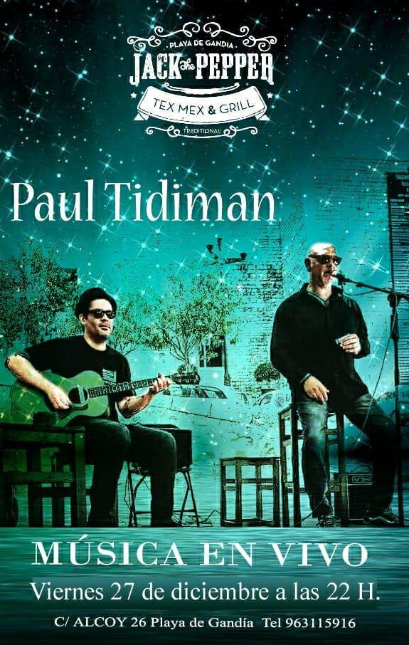 paul tidiman - musica en vivo.- jack the pepper