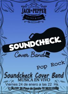 Soundcheck - Cover Band @ Jack The Pepper | Grau i Platja | Comunidad Valenciana | España