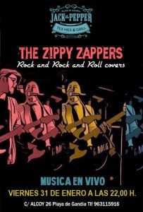 The Zippy Zappers @ Jack The Pepper | Grau i Platja | Comunidad Valenciana | España